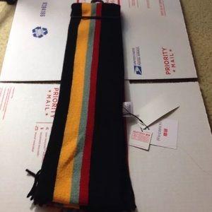 Uniqlo JW Anderson Black Striped School Wool Scarf